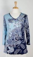 Parsley & Sage - Paisley V-neck Top
