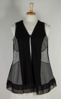 Parsley & Sage Black and Heather Grey Vest