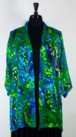 Simply Silk - Open Silk Kimono Jewel Green