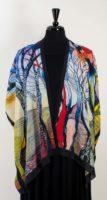 Cocoon House – Long Open Silk Kimono – Horizon