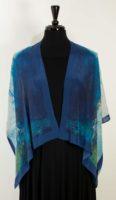 Cocoon House – Silk Kimono Open Jacket (shorter) – Sapphire