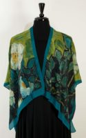 Cocoon House – Silk Kimono Open Jacket (shorter) – Wild Roses