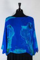 Simply Silk Dressy Cropped Silk Topper - Royal Blue