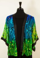 Simply Silk Open Silk Jacket - Blue Green