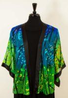 Simply Silk Open Silk Jacket - Blue Green