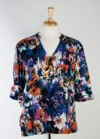 Tianello V-neck Diva Blouse - Floral