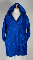 UBU Hooded A-Line Pillow Coat - Royal Blue
