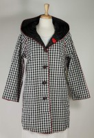 UBU Reversible Raincoat - Black & White Gingham