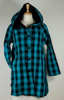 UBU Reversible Raincoat - Teal/Black Check