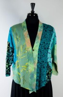 Wild Woman Hopi Jacket - Green (Floral print)