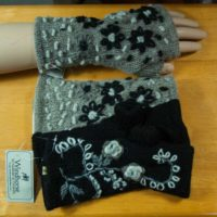 Windhorse - Knit Wool Fleece-lined Fingerless Mittens (2 Colors)