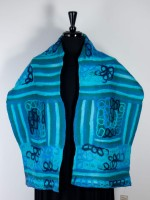 Windhorse - Wool & Silk Scarf - Blue
