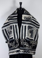 Windhorse - Wool & Silk Scarf - Black & White