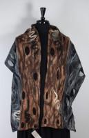 Windhorse Wool & Silk Scarf - Black/Brown