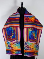Windhorse Wool & Silk Scarf - Rainbow