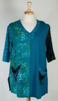 Wild Woman Batik Patchwork V-neck Tunic (2 Colors)