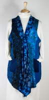 Wild Woman Patchwork Batik Vest - Indego